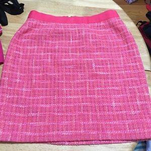 Kate spade pink tweed skirt size 8